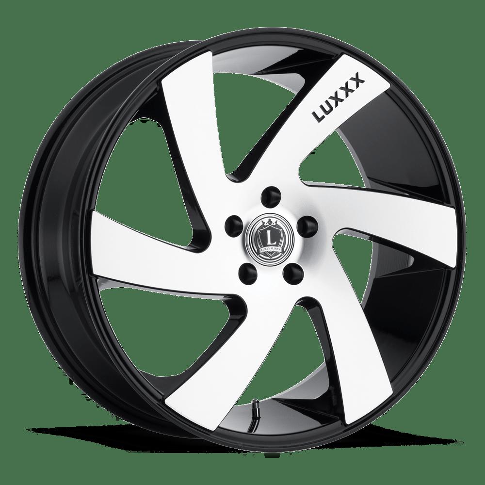 Luxxx Wheels Lux 10 20X8.5 Black Machined | Tyres Gator