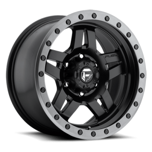 Fuel Anza D557 15X10 Matte Black w/ Anthracite Ring