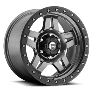 Fuel Anza D558 15X10 Matte Anthracite w/ Black Ring