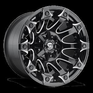 Fuel Battle Axe D578 20X9 Gloss Black Milled