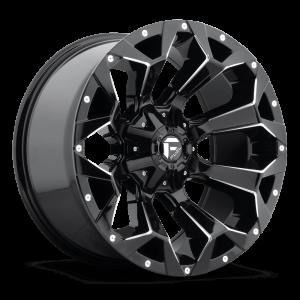 Fuel Assault D546 22X12 Black Milled