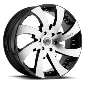 Luxxx Wheels Lux 12 22X9.5 Black Machined with Spikes