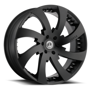 Luxxx Wheels Lux 12 24X10 Satin Black with Spikes