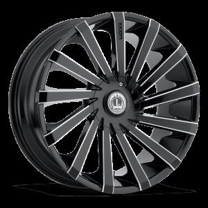 Luxxx Wheels Lux 13 22X8.5 Black Milled
