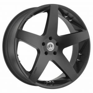 Luxxx Wheels Lux 14 20X8.5 Satin Black with Spikes