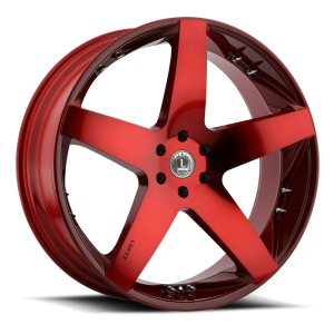 Luxxx Wheels Lux 14 26X10 Neon Red with Spikes