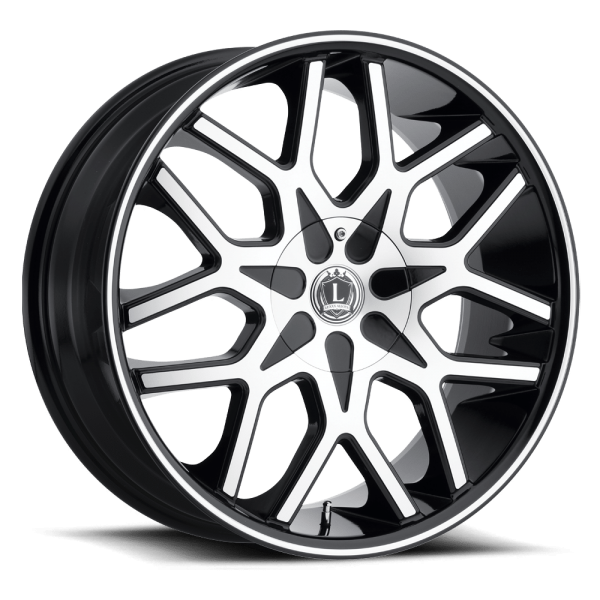 Luxxx Wheels Lux 7 20X8.5 Black Machined