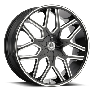 Luxxx Wheels Lux 7 22X9.5 Black Milled