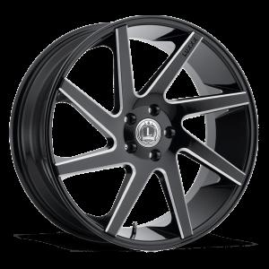 Luxxx Wheels Lux 8 26X10 Black Milled