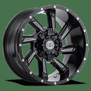 Scorpion SC25 20X9 Black Milled