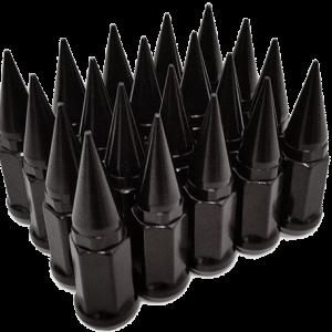 24 Spike Lug Nuts Black 14X1.5