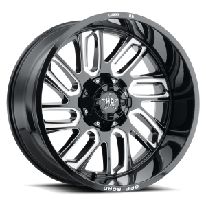 Luxxx Off-Road LHD18 22X12 Gloss Black Milled