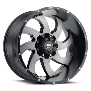 Luxxx Off-Road LHD12 17X9 Satin Black Grey Machined