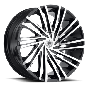 Luxxx Wheels Lux 17 20X8.5 Gloss Black Machined Face
