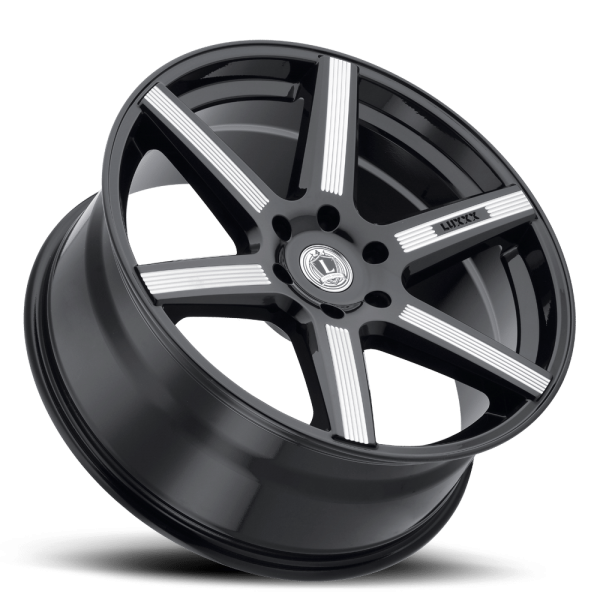 Luxxx Wheels Lux 20 26X10 Gloss Black Milled
