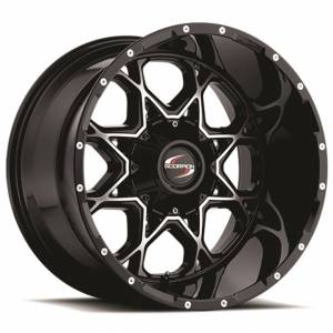 Scorpion SC10 18X9 Black Machined