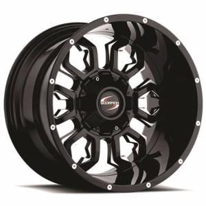 Scorpion SC17 20X12 Black Milled