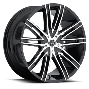 VCT V28 20X8.5 Black Machined