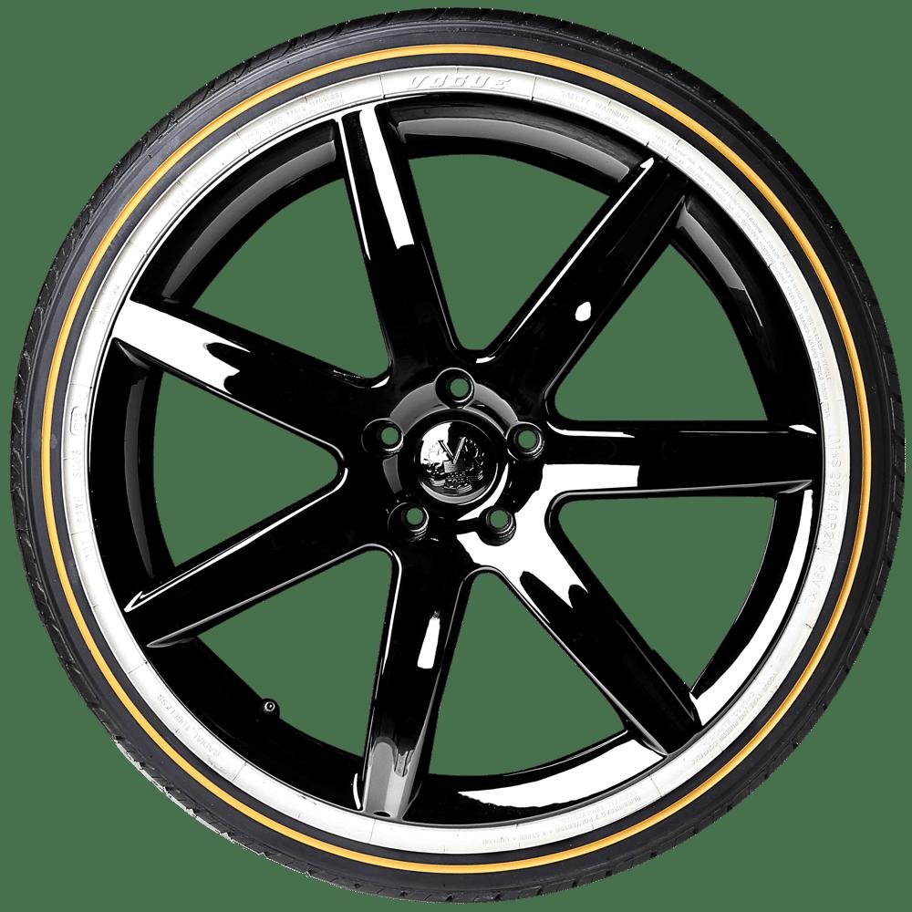 tires vogue viii custom radial built tire 245 gold tyre 235 cbr thin 50r18 cadillac wall 45r19 stripe wheels tyres
