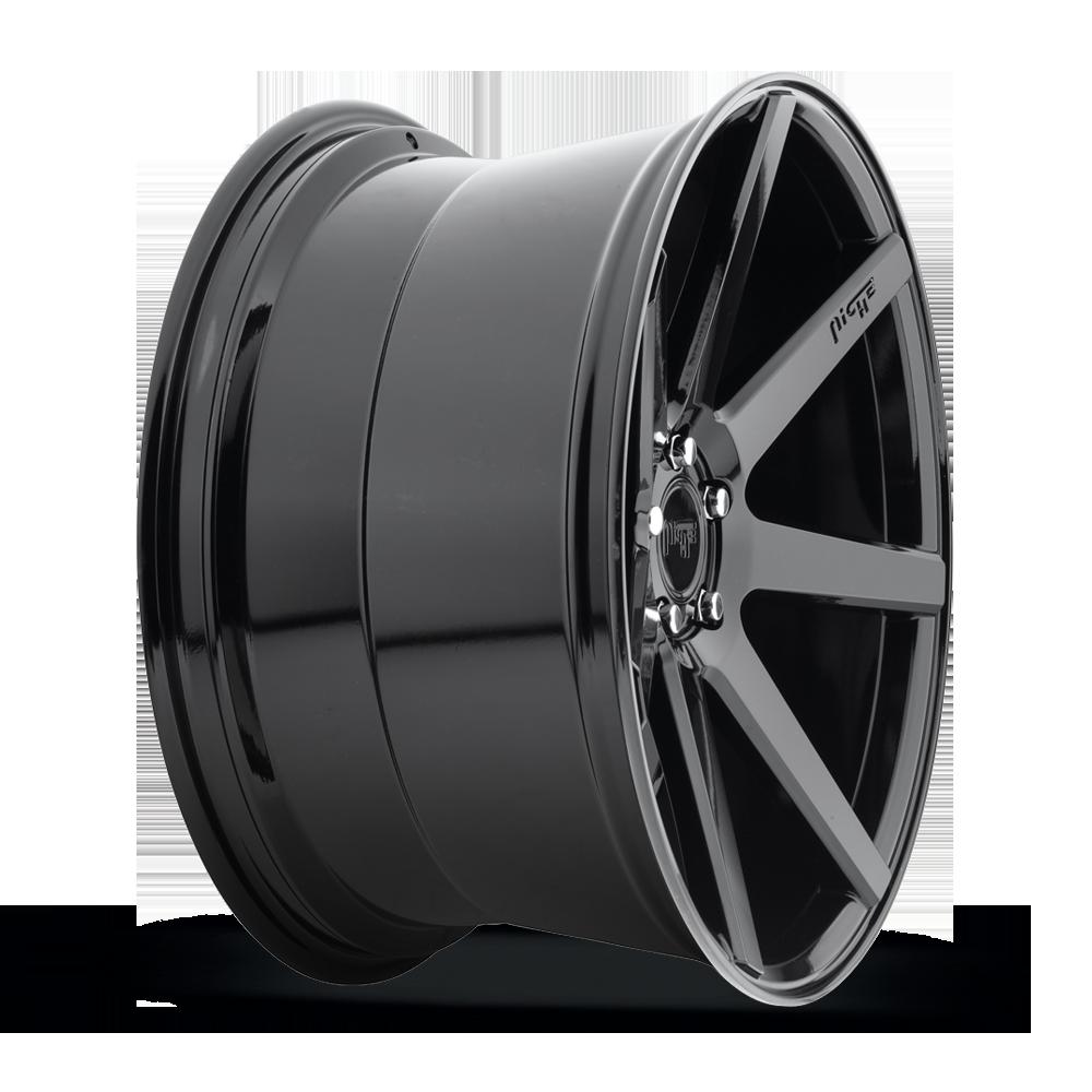 20x10 NICHE Verona M168 Gloss Black Wheels 5x120 Bolt Pattern with 40 Offset